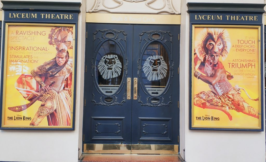 Król Lew w Londynie. The Lion King Wes End. Musicale