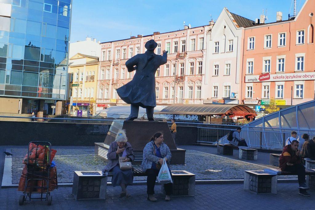 Sosnowiec. pomnik Jana Kiepury
