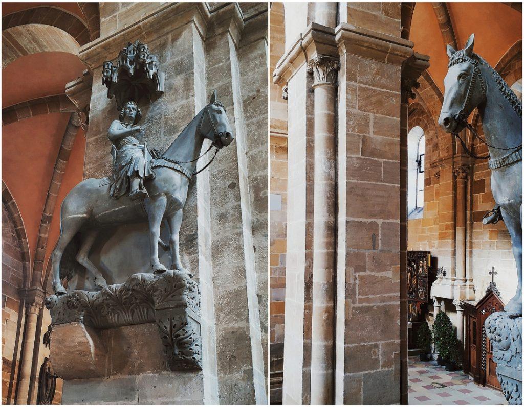 Katedra w Bambergu. Bamberger Dom. Jeździec bamberski