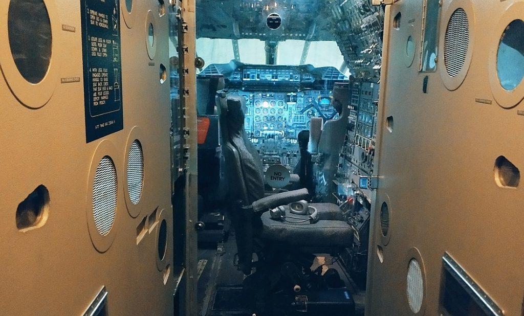 Co w środku Concorde'a. Concorde G-BOAA. Muzeum Lotnictwa w Szkocji. Atrakcje w okolicy Edynburga