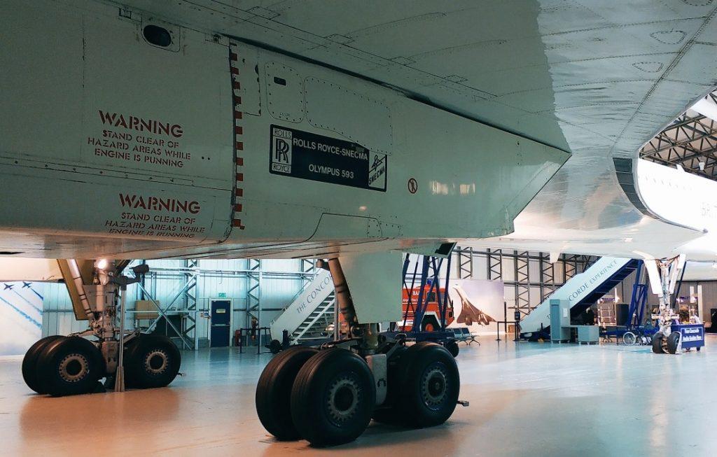 Co w środku Concorde'a. Concorde G-BOAA. Muzeum Lotnictwa w Szkocji