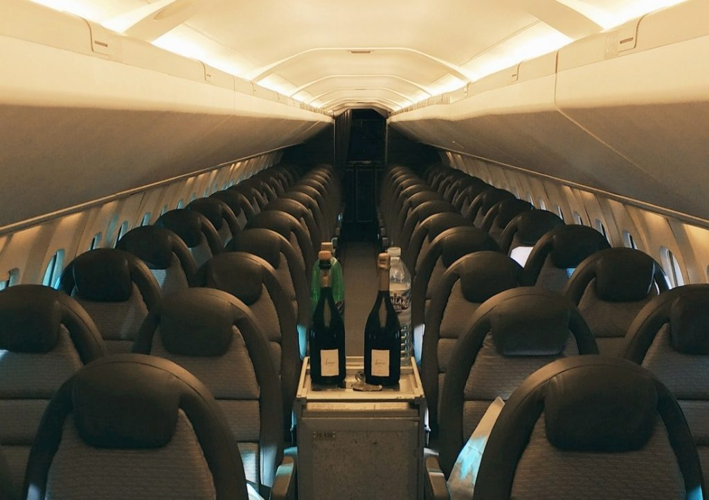 Co w środku Concorde'a. Muzeum Lotnictwa w Szkocji. Atrakcje w okolicy Edynburga