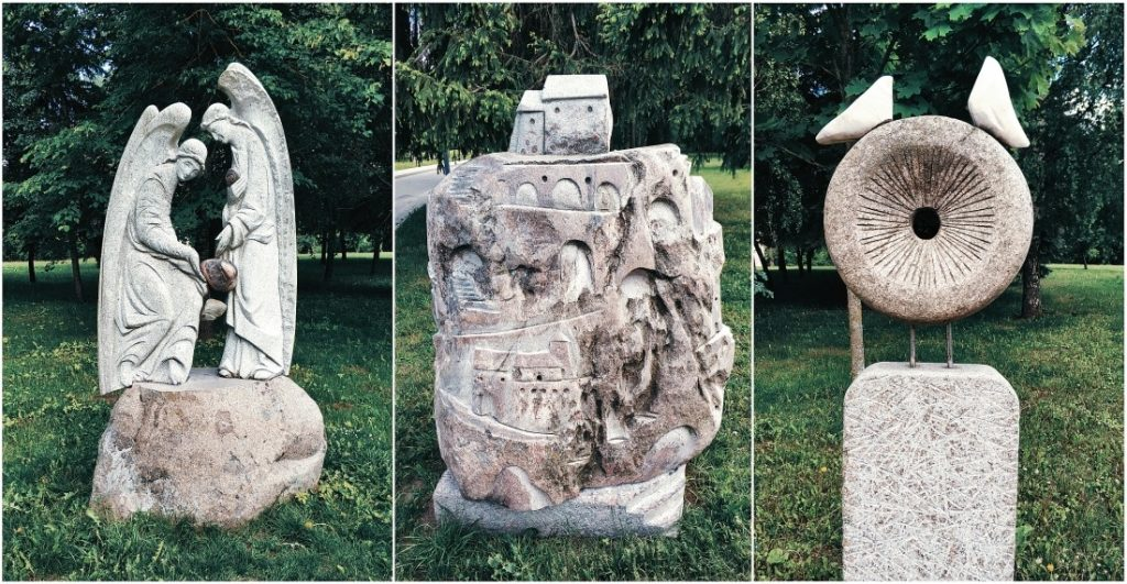 Kołoża w Grodnie. Park rzeźb. Sztuka białoruska