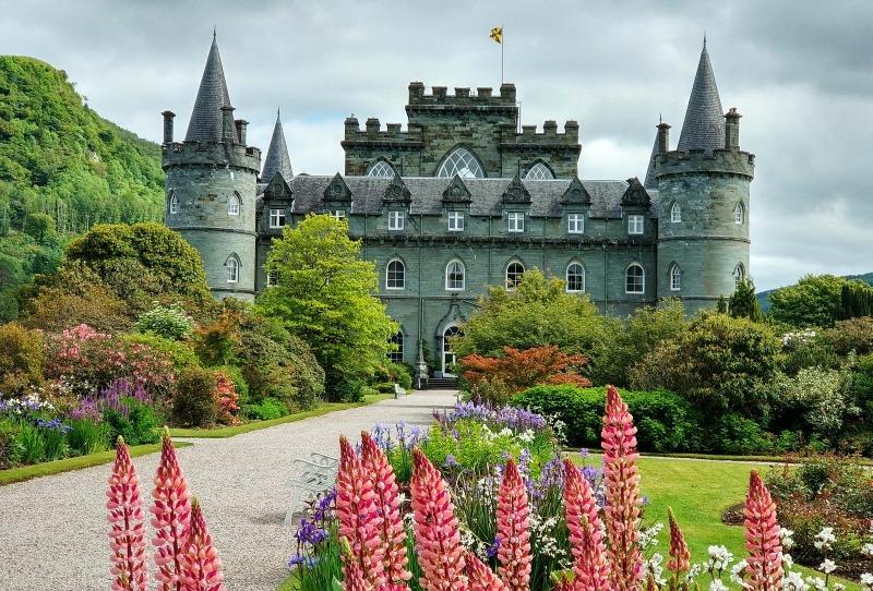 Zamek Inveraray Szkocja West Highlands