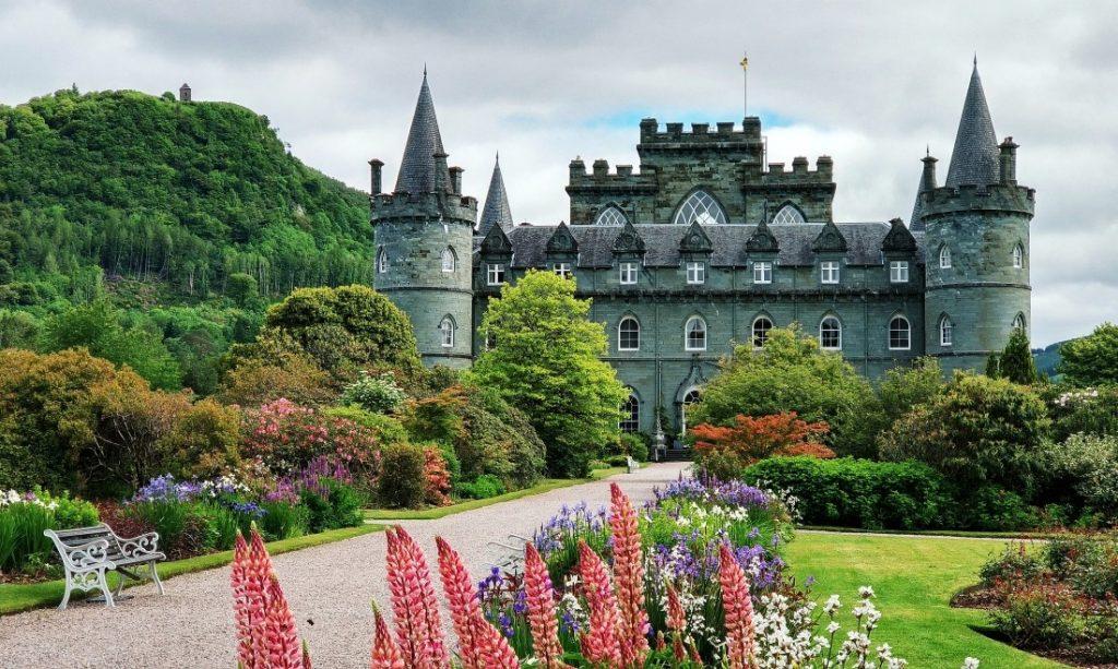 Highlands Inveraray Castle zamek Szkocja zachodnia