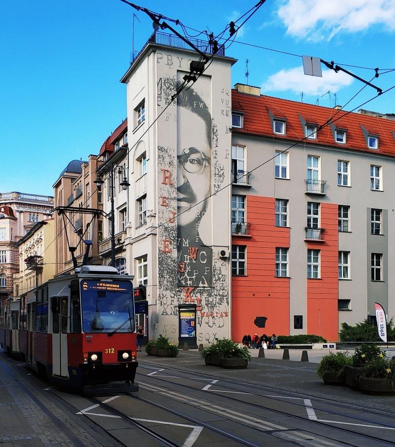 Mural Marian Rejewski Bydgoszcz