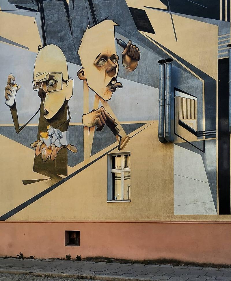 Street art w Bydgoszczy. Mural Samookreślenie