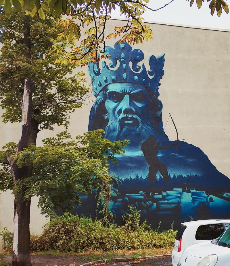 mural Kazimierz Wielki. Street art w Bydgoszczy