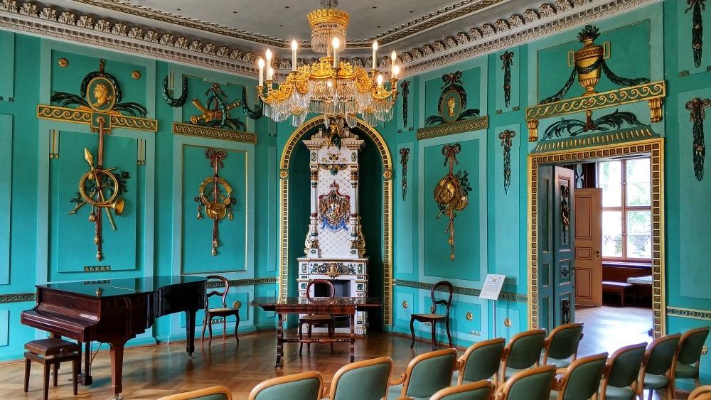 wnętrze pałacu Branitz w Cottbus