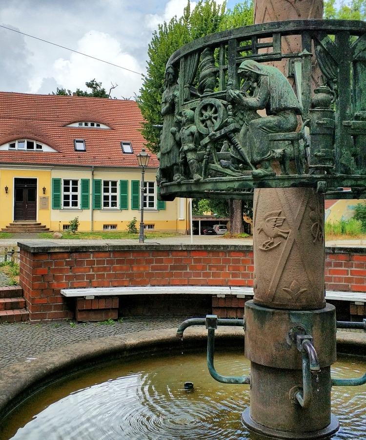 fontanna włókienników w Cottbus Chociebużu