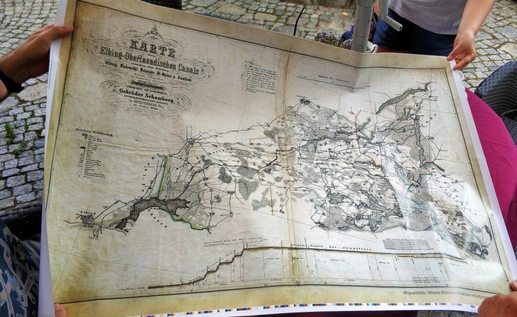 Mapa Krainy Kanału Elbląskiego