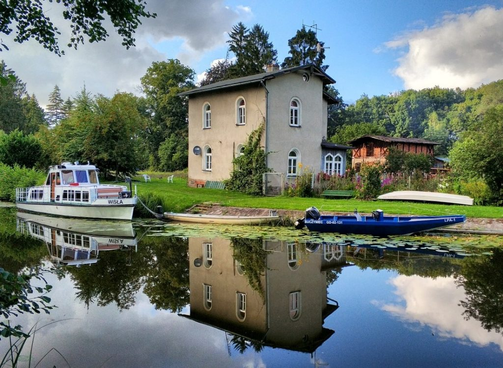 Kraina Kanału Elbląskiego. Stary port w Czulpie. Czulpa. Jezioro Ruda Woda. Georg Jacob Steenke