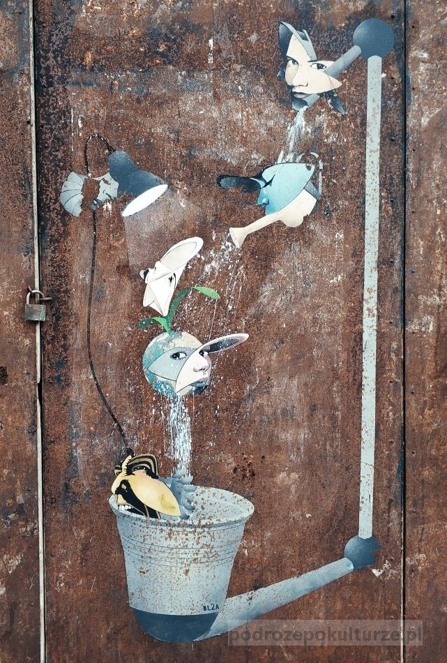 Cadaques Costa Brava. Street art w Hiszpanii
