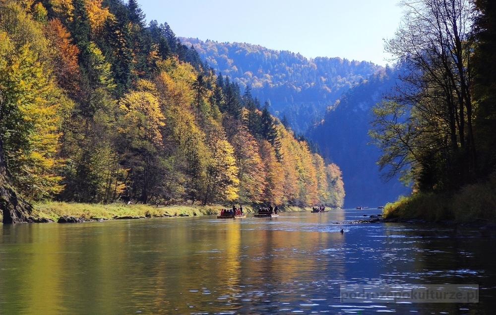 góry jesienią. Spływ Dunajcem