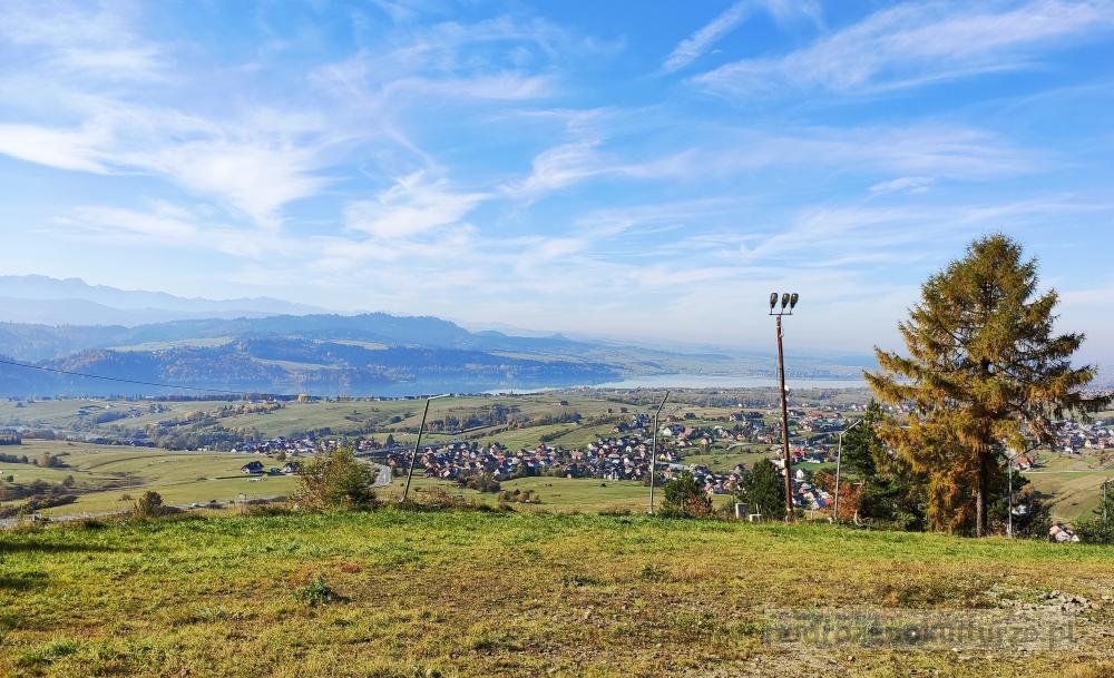 Panorama Tatr z góry Wdżar. Jezioro Czorsztyńskie