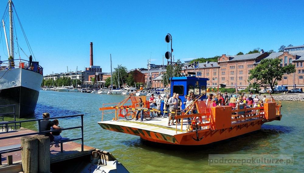Bezpłatne atrakcje Turku - prom rzeka Aura