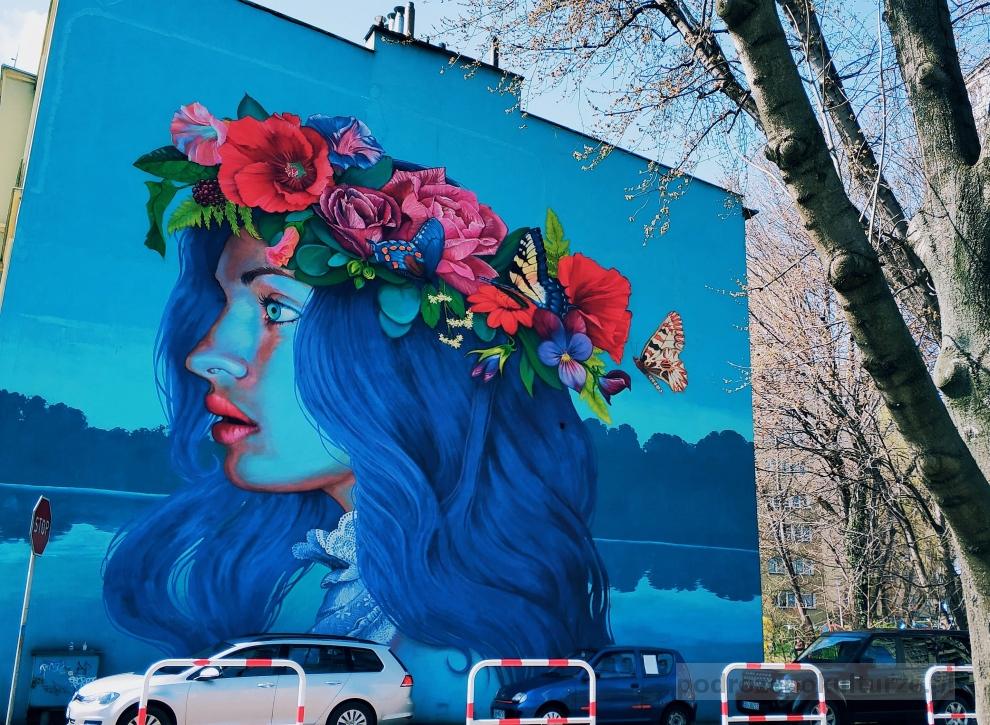 Noc Świętojańska Natalia Rak. Street art Bielsko-Biała