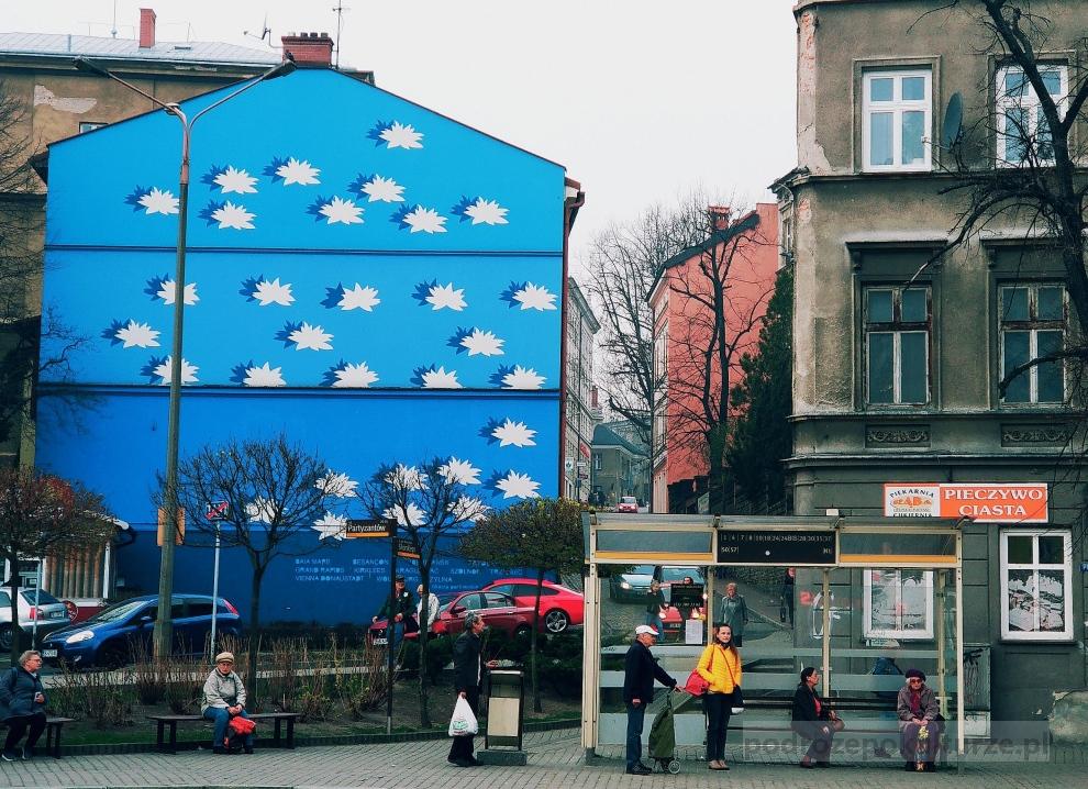 Wielki Błękit Joanna Stańko. Street art w Bielsku-Białej