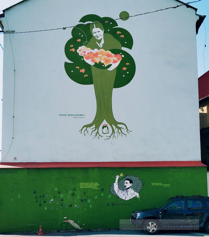 mural Ireny Sendlerowej w Bielsku-Białej