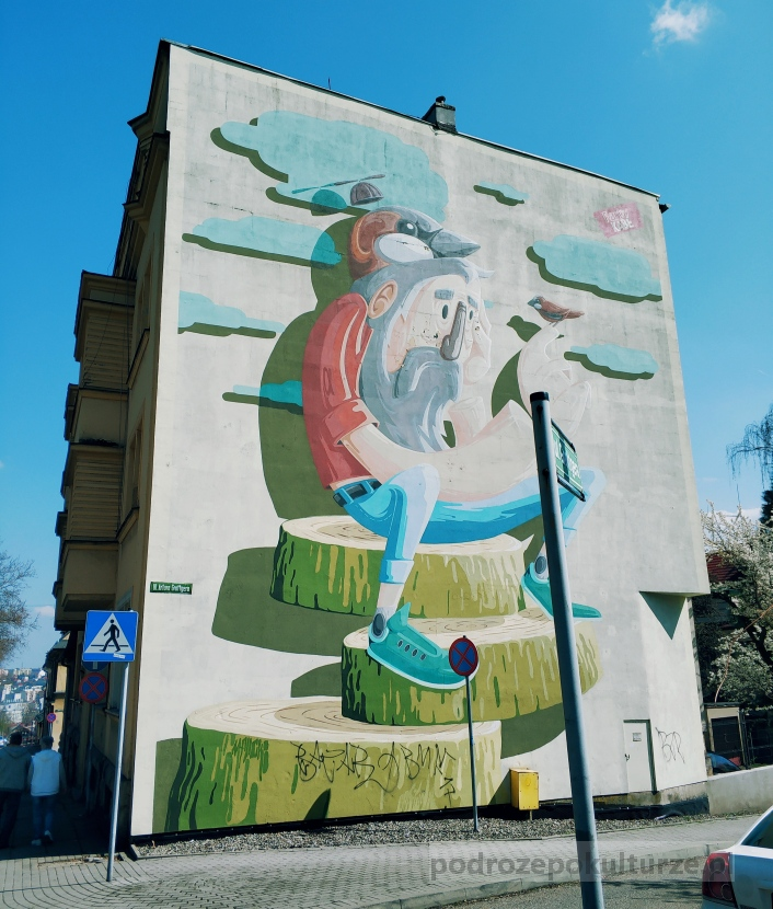 """Frasunek Marcina """"Malika"""" Malickiego. Street art w Bielsku-Białej"""