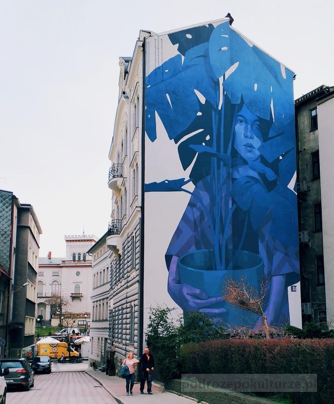 Mural Blue Monday Mateusz Gapski, street art w Bielsko-Biała