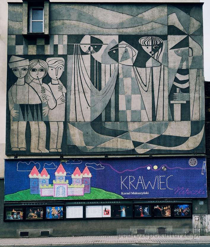 Street art w Bielsku-Białej. Sgraffito na Teatrze Banialuka