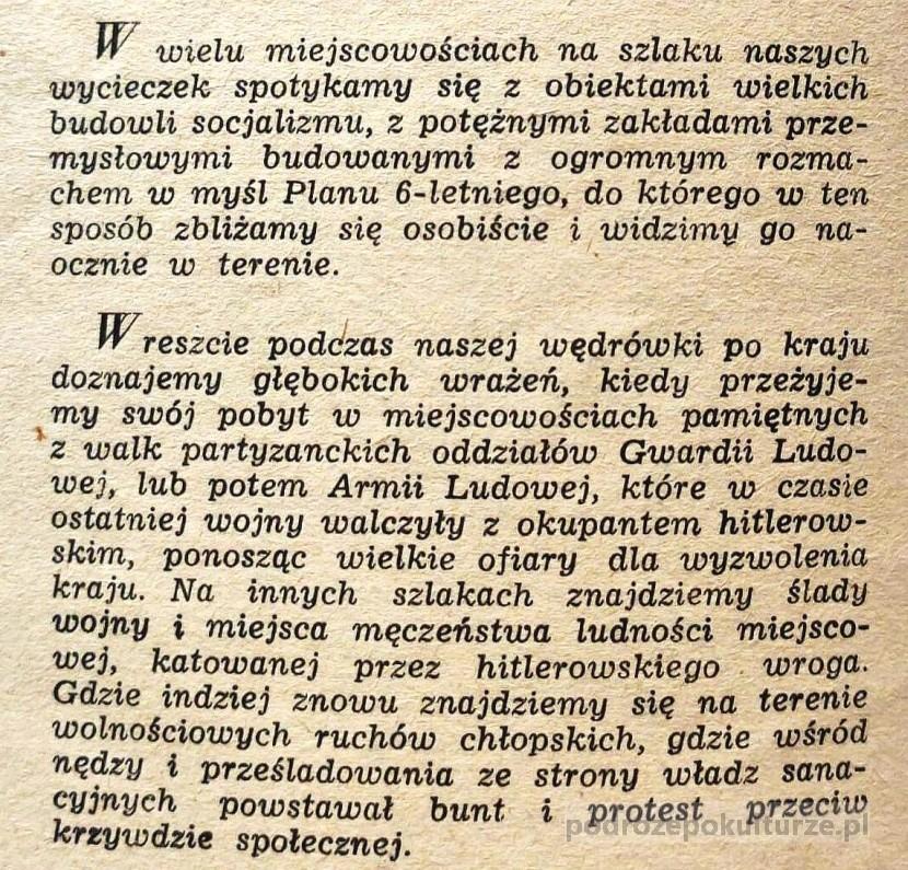 podróże po Polsce w latach pięćdziesiątych