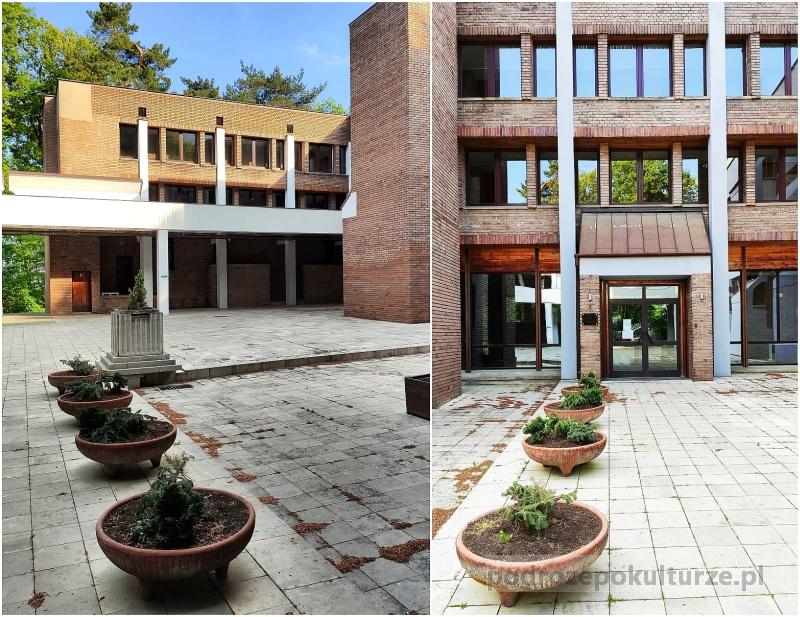 Hotel Wolski Przegorzały. Architektura brutalistyczna Krakowa. Hotel w lesie