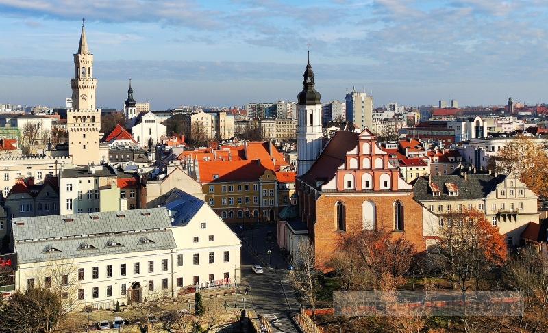 panorama Opola z Wieży Piastowskiej