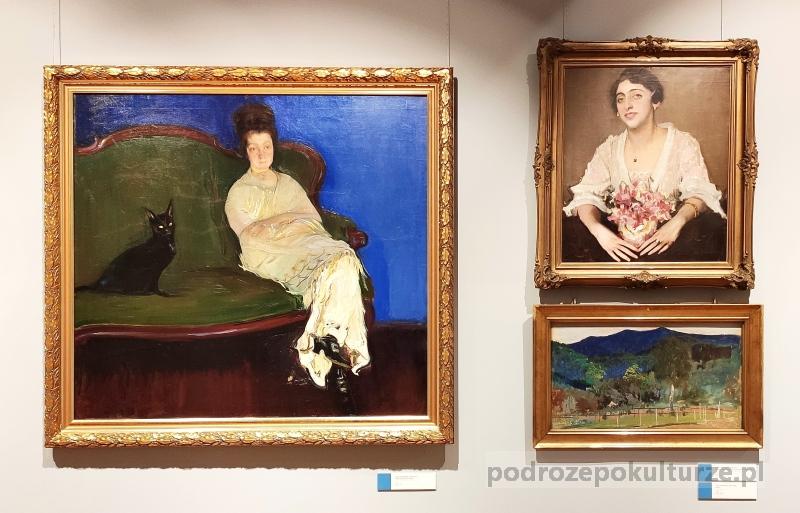 """Muzea w Opolu. """"Portret żony artysty z kotem"""" Konrada Krzyżanowskiego"""