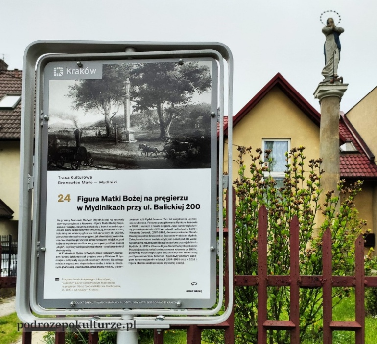 trasa turystyczno-kulturowa Bronowice Małe – Mydlniki pręgierz