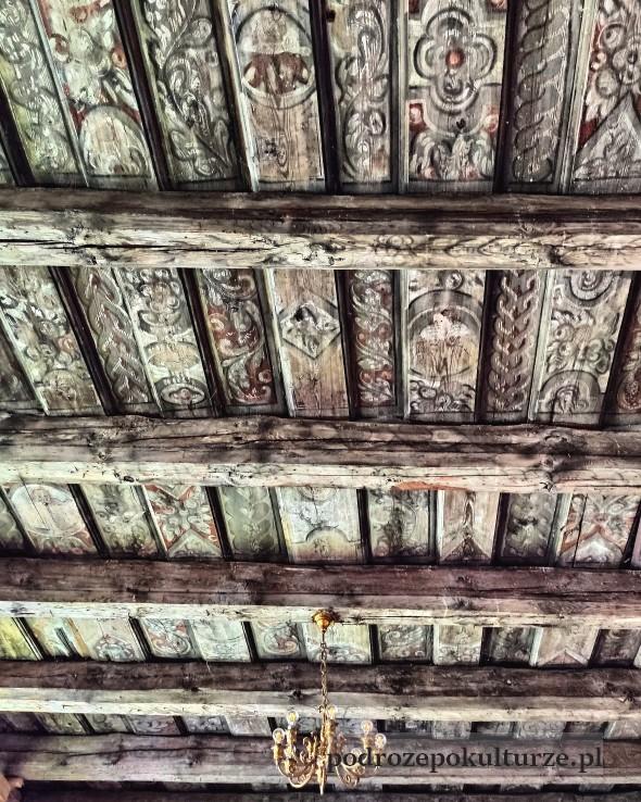 Zamek w Morągu renesansowe polichromie na stropie