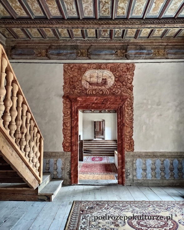 Nieznane atrakcje ziemia kłodzka. Zamek w Gorzanowie. Pałac w Gorzanowie polichromie we wnętrzu