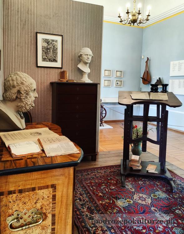 Muzeum Morąg wystawa J.G. Herdera gabinet w Weimarze