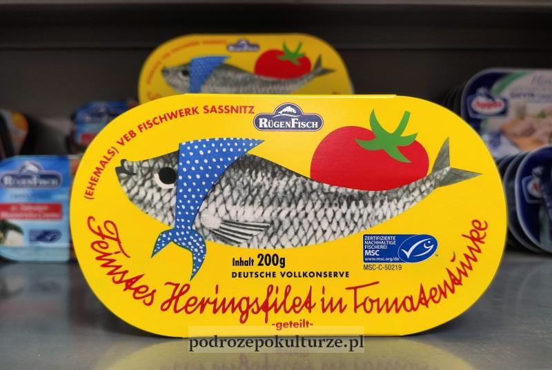 Heringsfilet konserwa rybna z Sassnitz