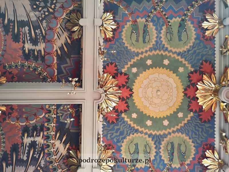 Sklepienie sali Mehoffera w Domu pod Globusem