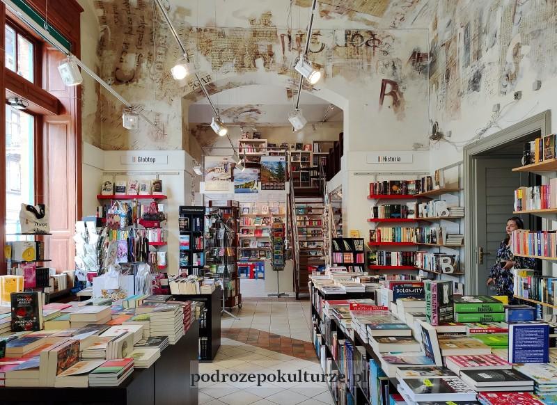 Księgarnia pod Globusem w Krakowie wnętrze