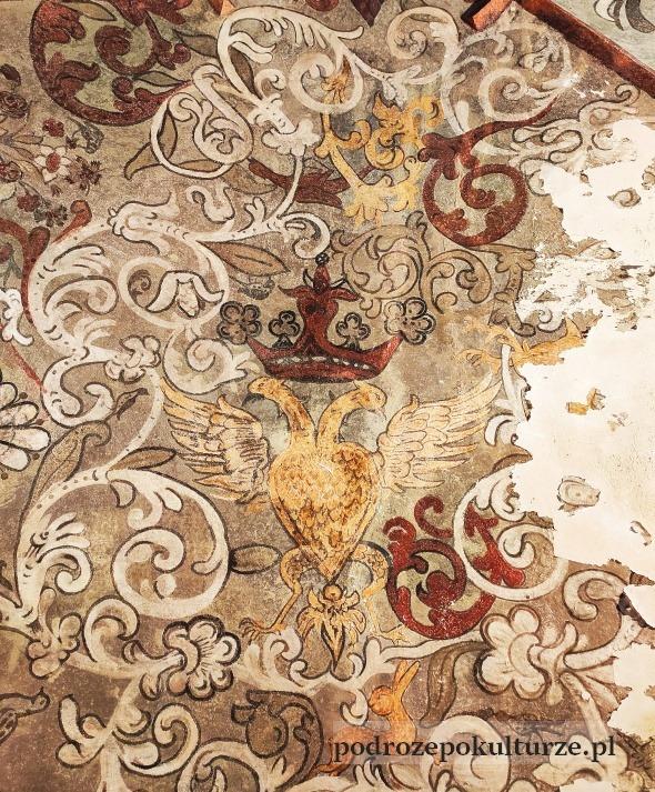 Malowidła naścienne polichromie w starej synagodze