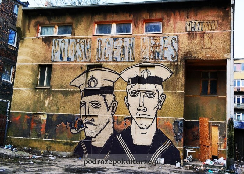 Krik Kong mural w Gdyni