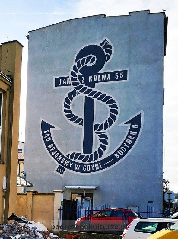 mural na Sądzie Rejonowym w Gdyni