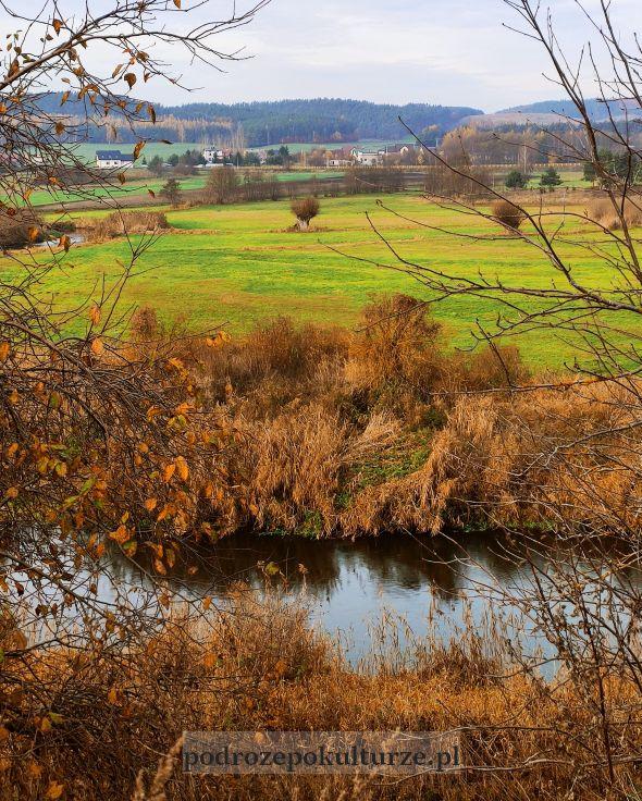 Dolina Drwęcy we wsi Kurzętnik