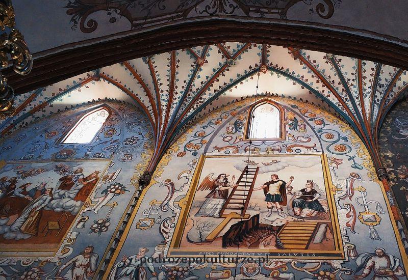bazylika pw. św. Tomasza Apostoła polichromie na sklepieniu