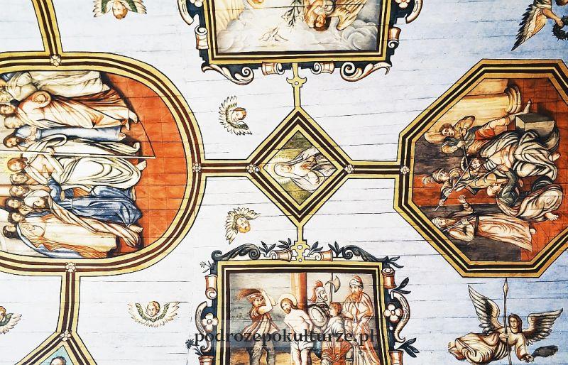 bazylika pw. św. Tomasza Apostoła manierystyczna polichromia na sklepieniu