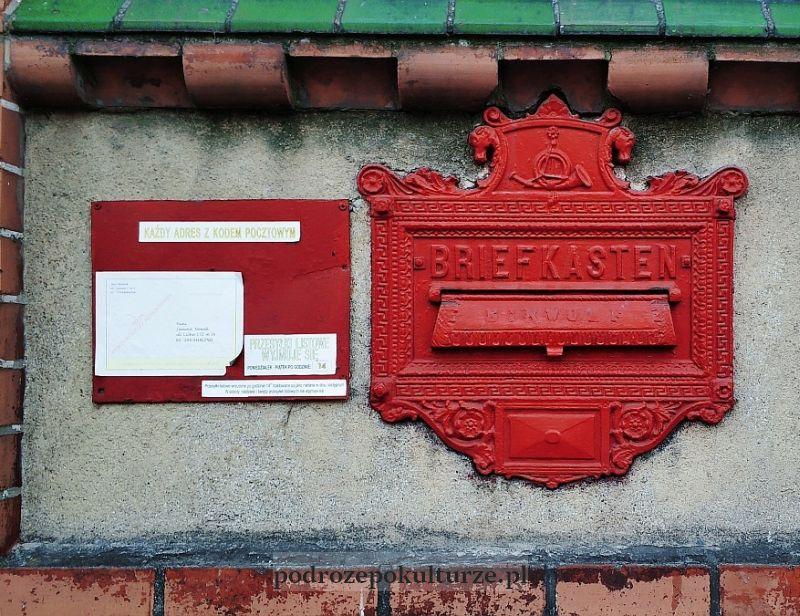 zabytkowa skrzynka pocztowa w Nowym Mieście Lubawskim