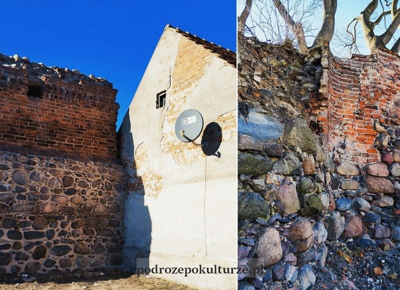 Pozostałość średniowiecznych murów miejskich w Nowym Mieście Lubawskim