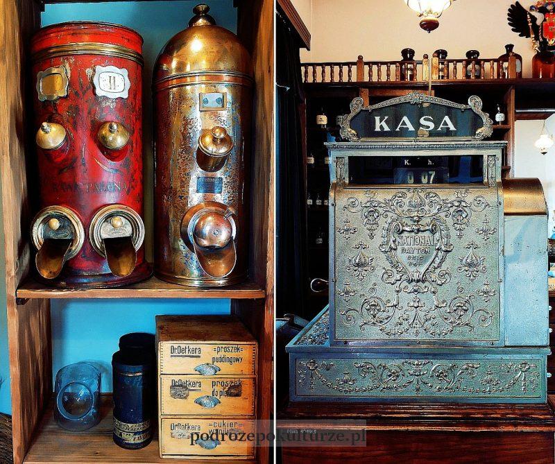 Miasteczko Galicyjskie w Nowym Sączu. Wnętrze sklepu kolonialnego