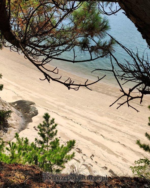 Okunoshima Morze Wewnętrzne Japonia plaża