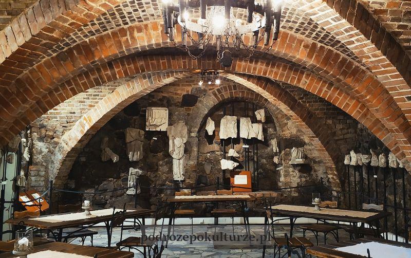 Zamek w Brodnicy. Lapidarium w piwnicach zamkowych