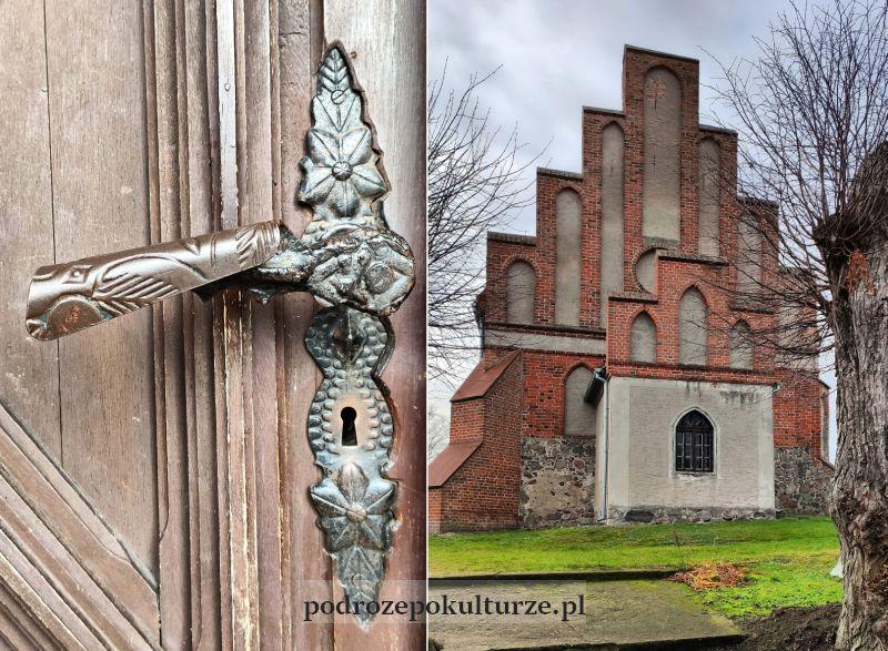 kościół w Borecznie. stara klamka
