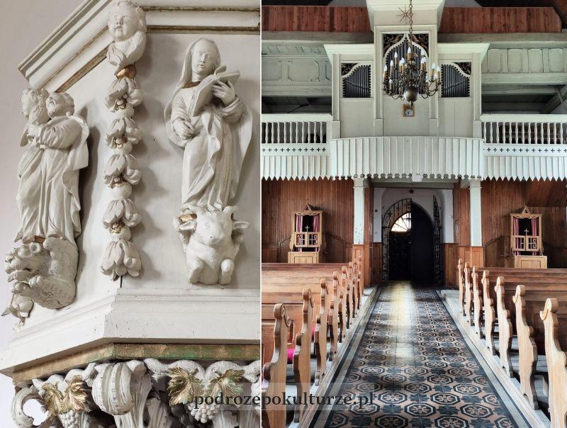wnętrze kościoła w Borecznie